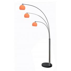 Oranje 3 Arms Retro Lounge Booglamp