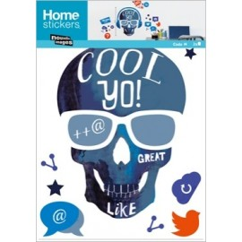 Muursticker Skull Cool Yo!