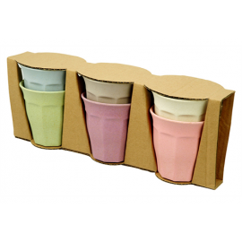 Zuperzozial Cupful of Colour Pasteltinten Set van 6