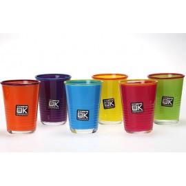 Set van 6 Gekleurde Glazen - Kare Design