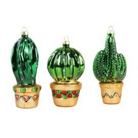 Set van 3 kerst cactussen