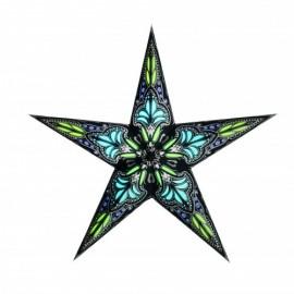 Papieren Kerstster Jaipur zwart-/turquoise KLEIN