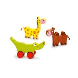 Babyspeelgoed Rollende Diertjes  - Scratch