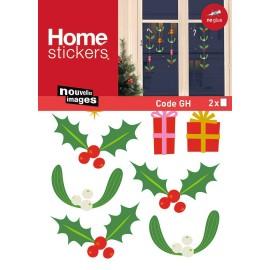 Raamstickers Kerst Hulst met Cadeautjes