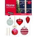 Raamstickers Rode & Zilveren Kerstballen