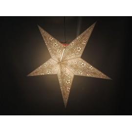Papieren Kerstster Swati - wit-/goud