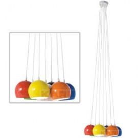 Hanglamp Retro Kleuren Bundel  7 bollen Kare Design