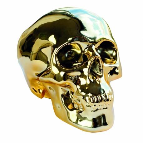 """Skull Spaarpot Goud """"Gold Digger"""""""