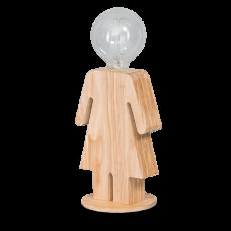 Tafellamp Hout Man en Vrouw