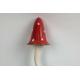Paddenstoel Punthoed Rood met witte stippen