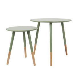 Bijzetafel Set Graceful Jungle Green Leitmotiv