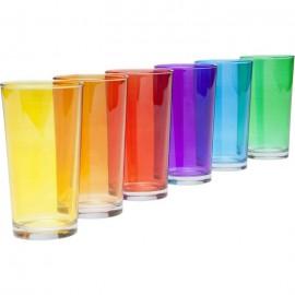 Tumbler Gekleurde glazen Kare Design set 6