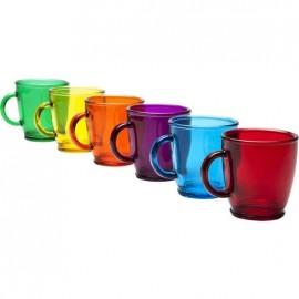 Gekleurde Theeglazen Kare Design set 6