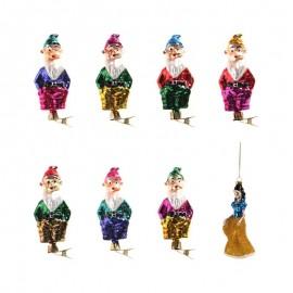 Retro Kerstballen Sneeuwwitje en de 7 Dwergen Set
