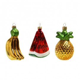 Retro Kerstballen Fruit Ornaments