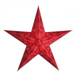 Papieren Kerstster Damaskus Rood