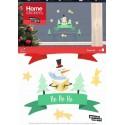 Raamsticker Kerst Ho Ho Ho