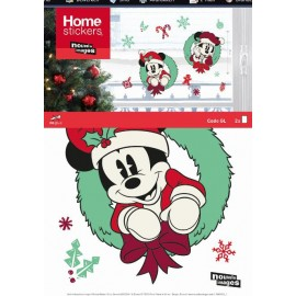 Raamsticker Kerst Mickey Mouse