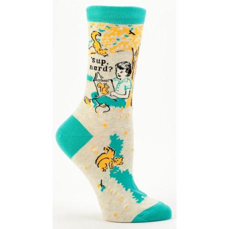 Hippe Dames Sokken-'Sup Nerd