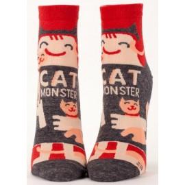 Hippe Dames Enkel Sokken-Cat Monster