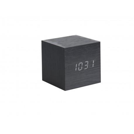 Karlsson Mini Wekker Cube Zwart